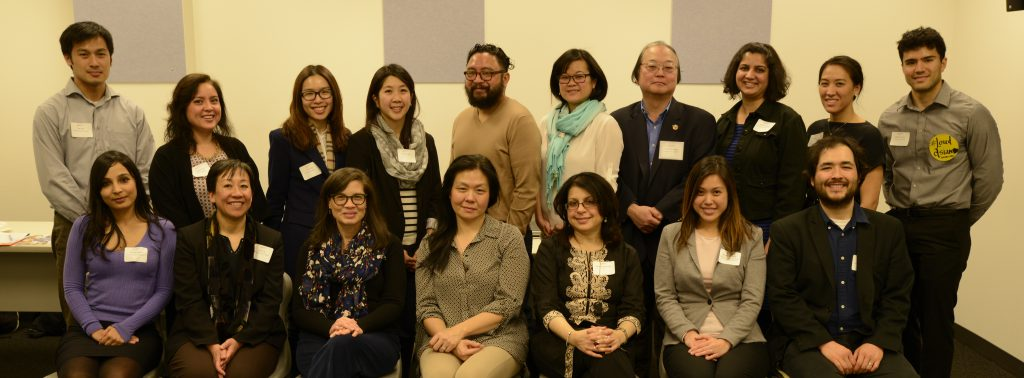Collaboratory participants include Shikha Bista (MSU), Terese Guinsatao Monberg (MSU), Fred Leong (MSU), Angela Ebreo (Michigan), Rooshey Hasnain (UIC), Jeslyn Koovakada (UIC), Karen Su (UIC), Sunny Seto (UIC), Heather Aguilar (UIC), Laura Kina (DePaul), Camilla Fojas (DePaul), Kris Ma (DePaul), Anne Saw (DePaul), OiYan Poon (Loyola), Caleb Kim (Loyola), George Villanueva (Loyola)